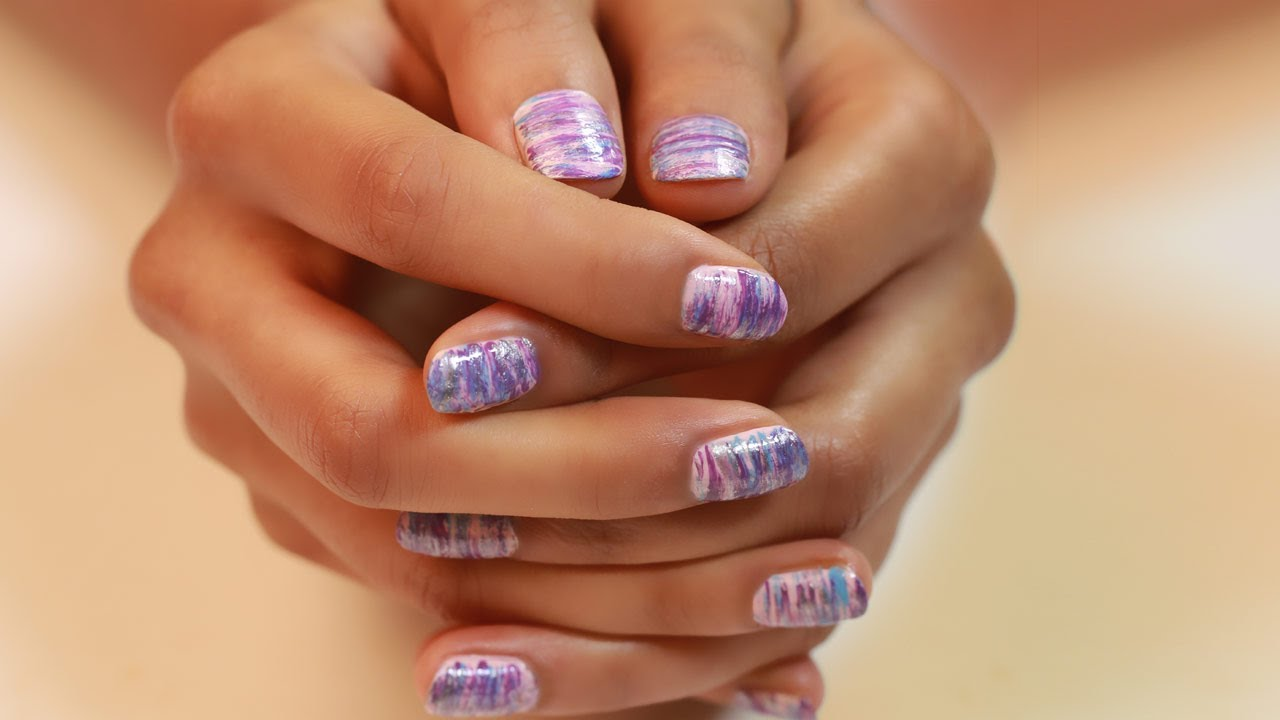 FANNED OUT NAILS: Nail Art For Beginners - YouTube