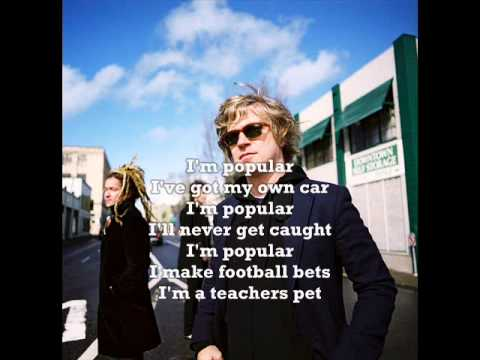NADA SURF - Popular (lyrics)