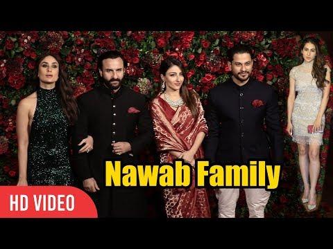 Nawab Family at Deepika - Ranveer Reception Party | Saif Ali Khan, Kareena, Sara, Kunal, Soha