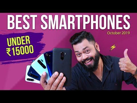 TOP 5 BEST MOBILE PHONES UNDER ₹15000 BUDGET ⚡⚡⚡ October 2019