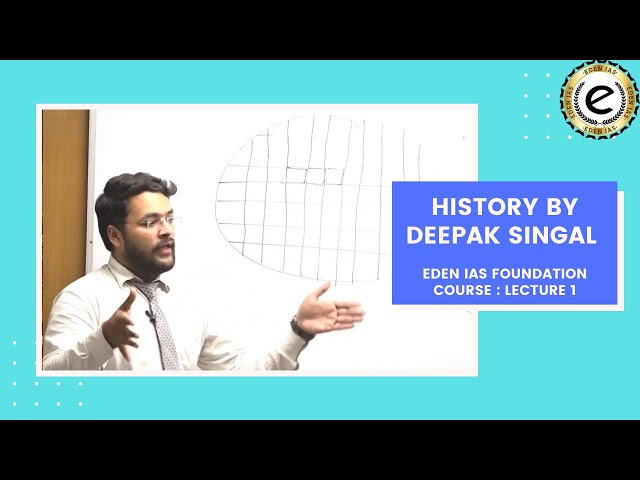 Ancient Indian History class for UPSC / IAS Exam by Mr. Deepak Singhal . EDEN IAS Foundation class 2