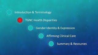 ELEVATE Webinar  TGNC Health Disparities (module 2)