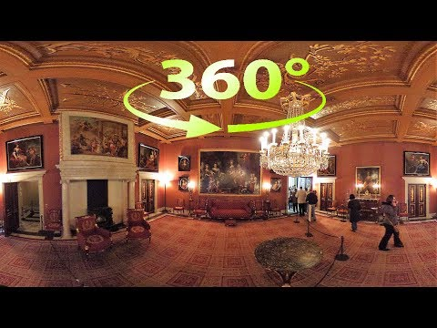 360° / VR 4K The Royal Palace of Amsterdam Tour (No Comments) - Netherlands