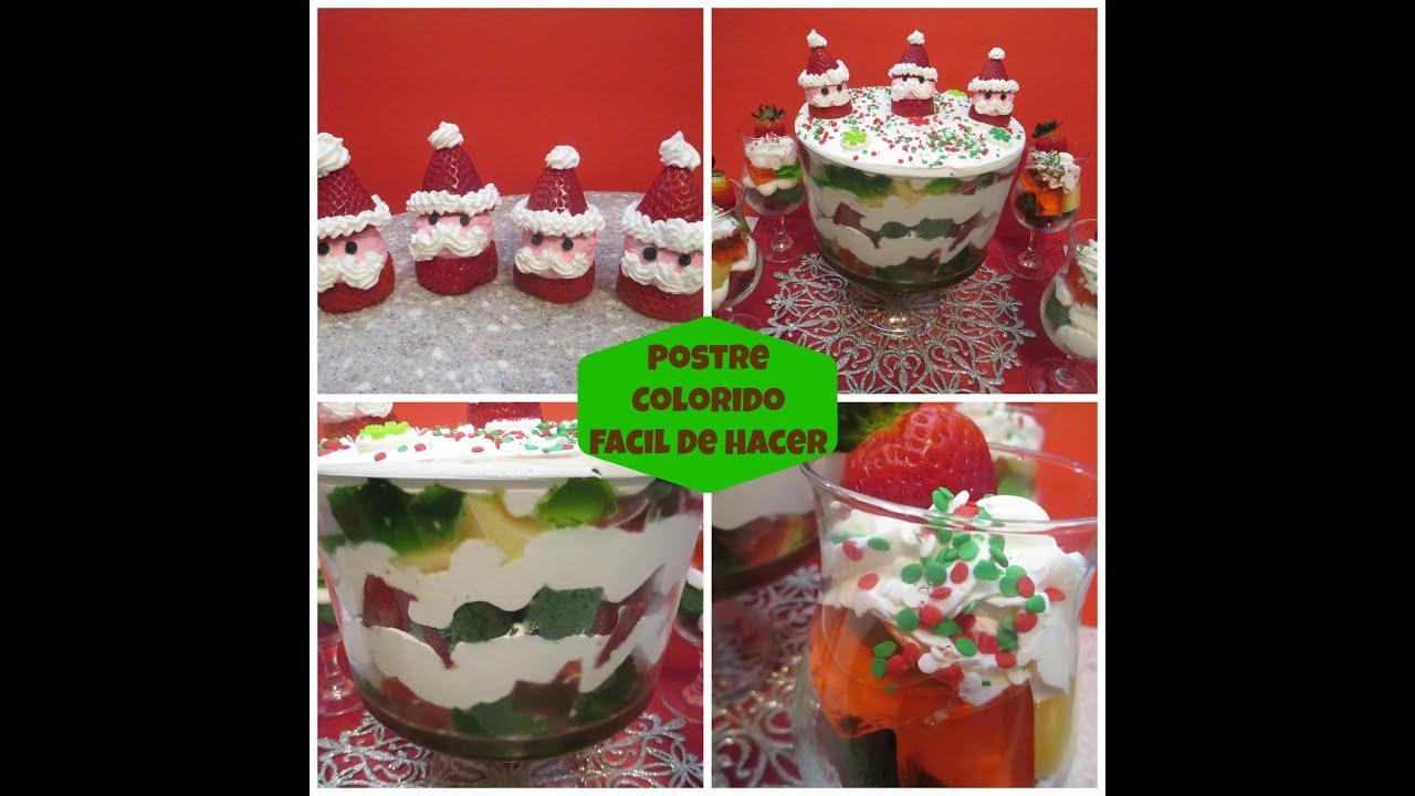 Postre colorido f cil y econ mico especial de navidad - Postre especial navidad ...