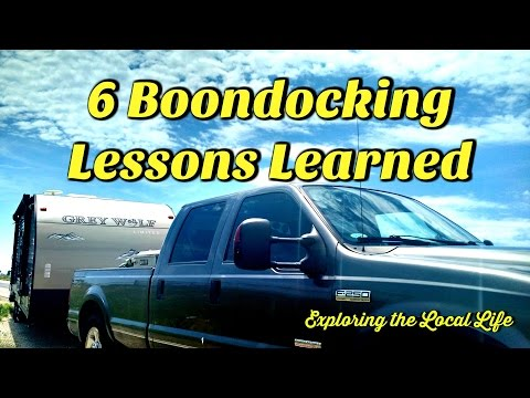 6 Boondocking Lessons Learned - Full Time RVing