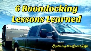 6 Boondocking Lessons Learned - Full Time Frugal RVing