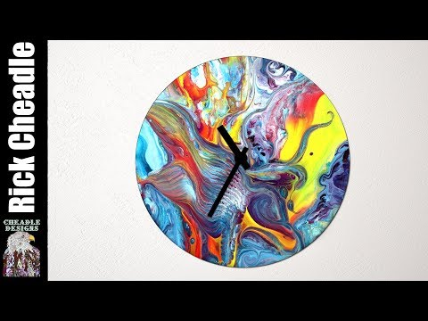 Easy Flow CLOCK Base -Acrylic Paint Tutorial, Rick Cheadle Art Channel Demo – Remastered