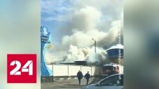 В Краснодаре загорелся мебельный склад - Россия 24