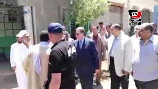 مدير أمن بني سويف يتفقد «صفط الخرسا» بعد أن شهدت بوادر فتنة طائفية