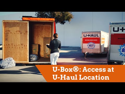 U-Box® Moving And Storage Containers: Access At U-Haul Location