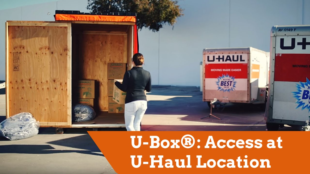 U Box Moving and Storage Containers Access at U Haul Location