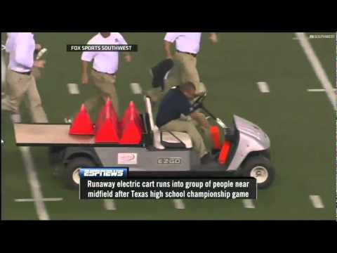 Accidente Insólito!! Carro Fuera de Control en Cowboys Stadium  Runaway Cart at Cowboys Stadium Videos De Viajes