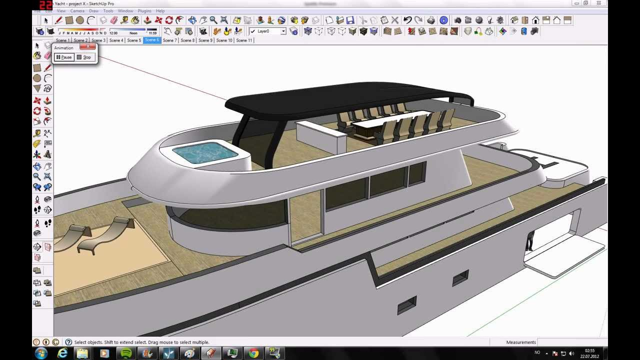 Google Sketchup Yacht Project X YouTube