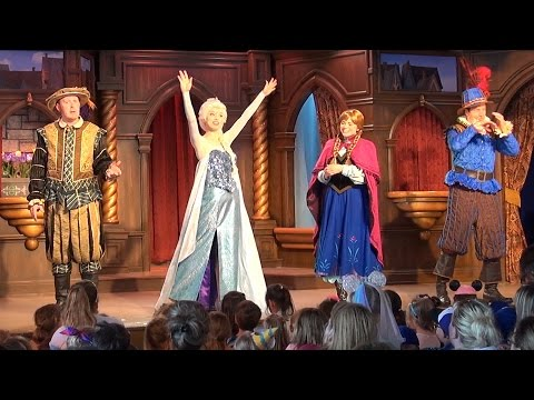 FULL FROZEN Stage Show in Fantasy Faire Royal Theater with Anna, Elsa Olaf, Disneyland 60th
