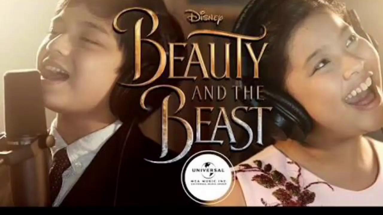 Beauty and the Beast LYRICS - ELHA and NOEL - YouTube
