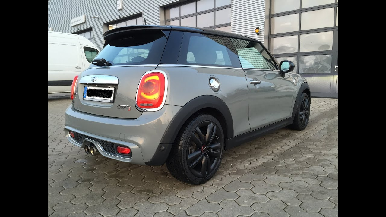 mini cooper s jcw f56 stage 2 tuning 300 ps akrapovic 100 200 km h youtube. Black Bedroom Furniture Sets. Home Design Ideas