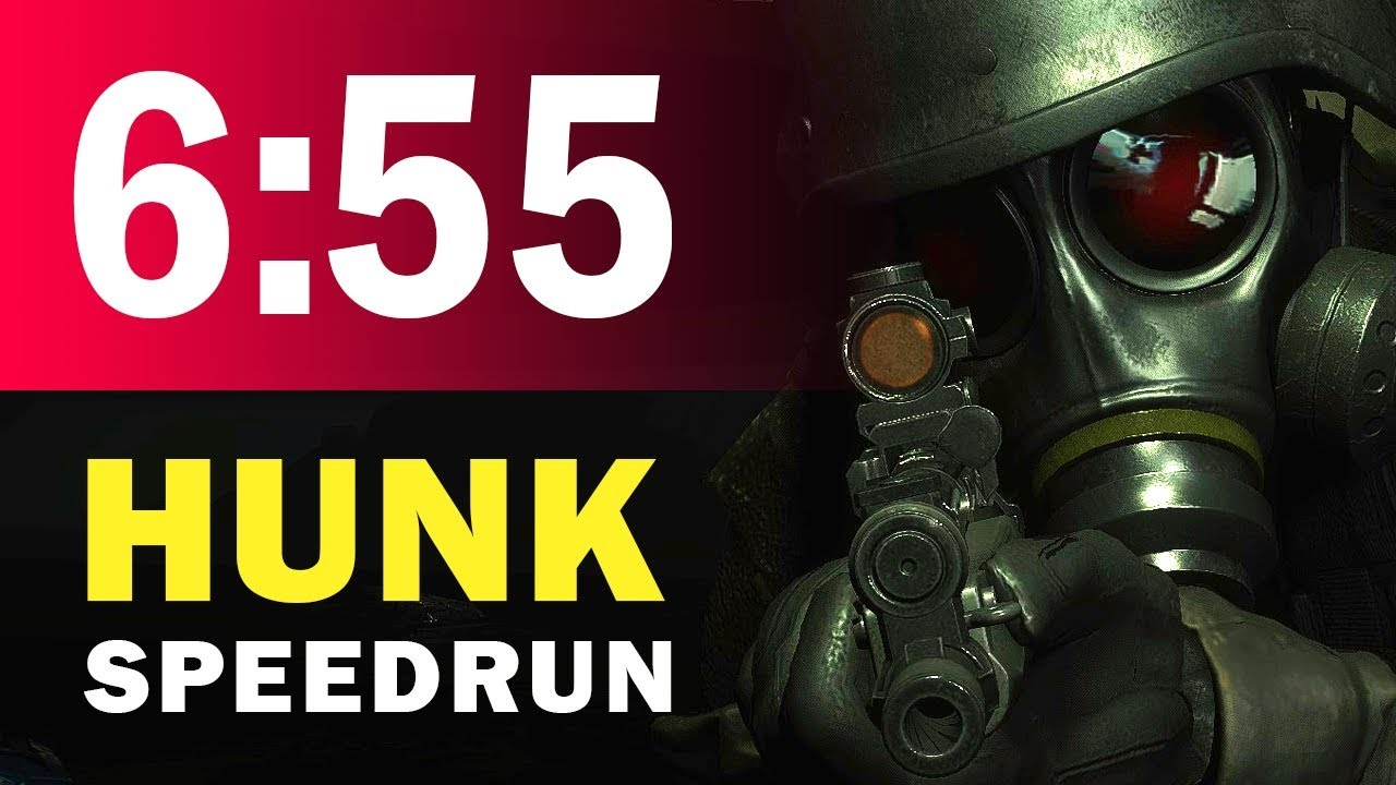 6 55 Hunk Speedrun Resident Evil 2 Pc 120 Fps Youtube
