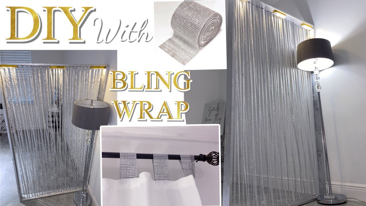 BLING WRAP ROOM DIVIDER| DIY Accent CURTAIN Idea!