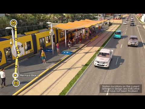 Gold Coast Light Rail Stage 3A: detailed fly-through