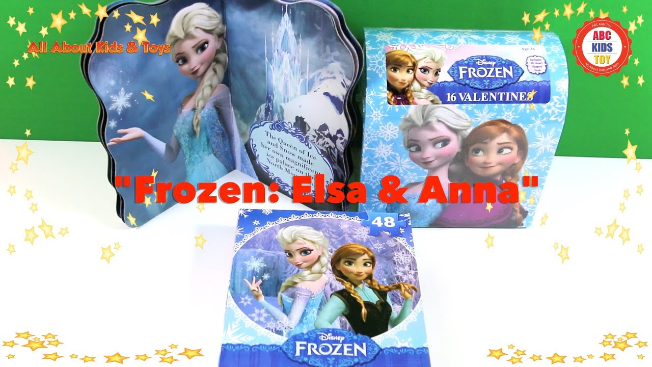 Play Elsa Anna Art Games Frozen Movie Characters ABC Kids Toys
