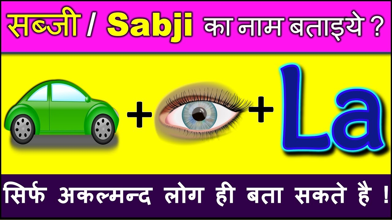 Emoji Paheliyan in Hindi with Answer | हिंदी पहेलियाँ | Picture Puzzles Riddles