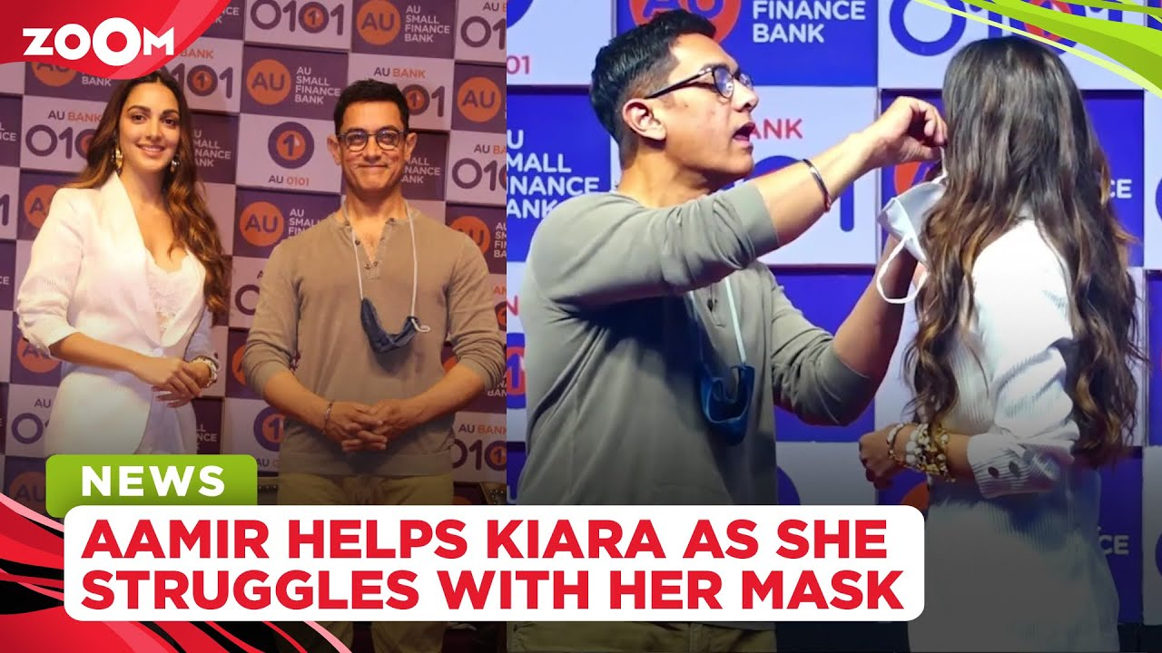 Aamir Khan comes to Kiara Advani's rescue as she struggles with her mask