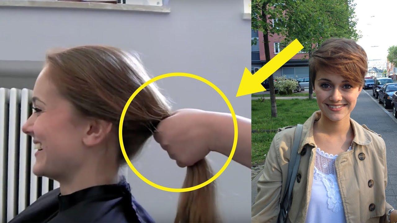 Meine Haare Von Lang Nach Kurz Youtube