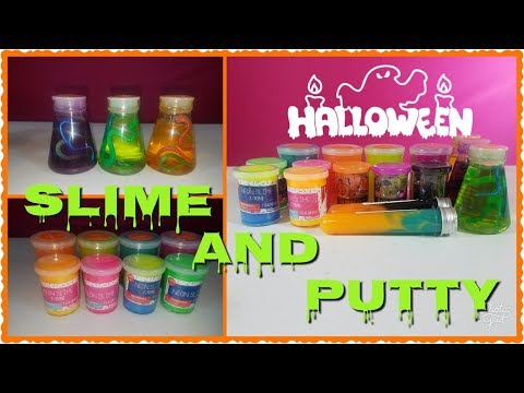 ONE DOLLAR TARGET HALLOWEEN SLIME AND PUTTY REVIEW