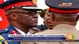 President Kenyatta Swears in military commanders