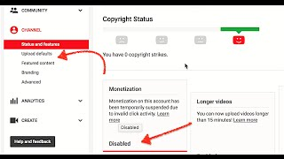 Fast Get back Monetization tab in 24h Proof/Re-Enable Monetization after Account Suspended 2016