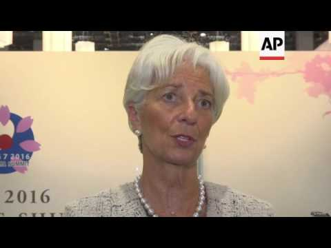IMF chief supports G7 economic strategy