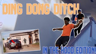 DING DONG DITCH IN THE HOOD! | Social Experiment  w/ Baybee Giant
