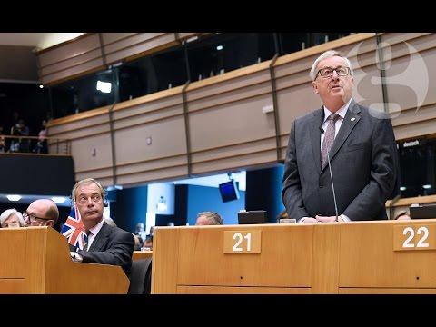 PE: Juncker catre Farage: E ultima data cand aplauzi aici