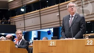 Jean-Claude Juncker to Nigel Farage: 'Why are you here?'