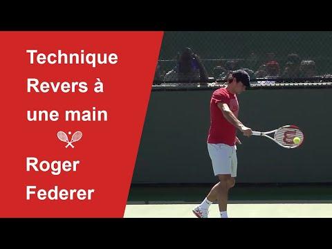 Analyse technique du revers lifté de Roger Federer