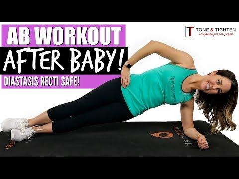 Ab Workout After Baby - Postpartum Ab Exercises - Diastasis Recti Safe Workout