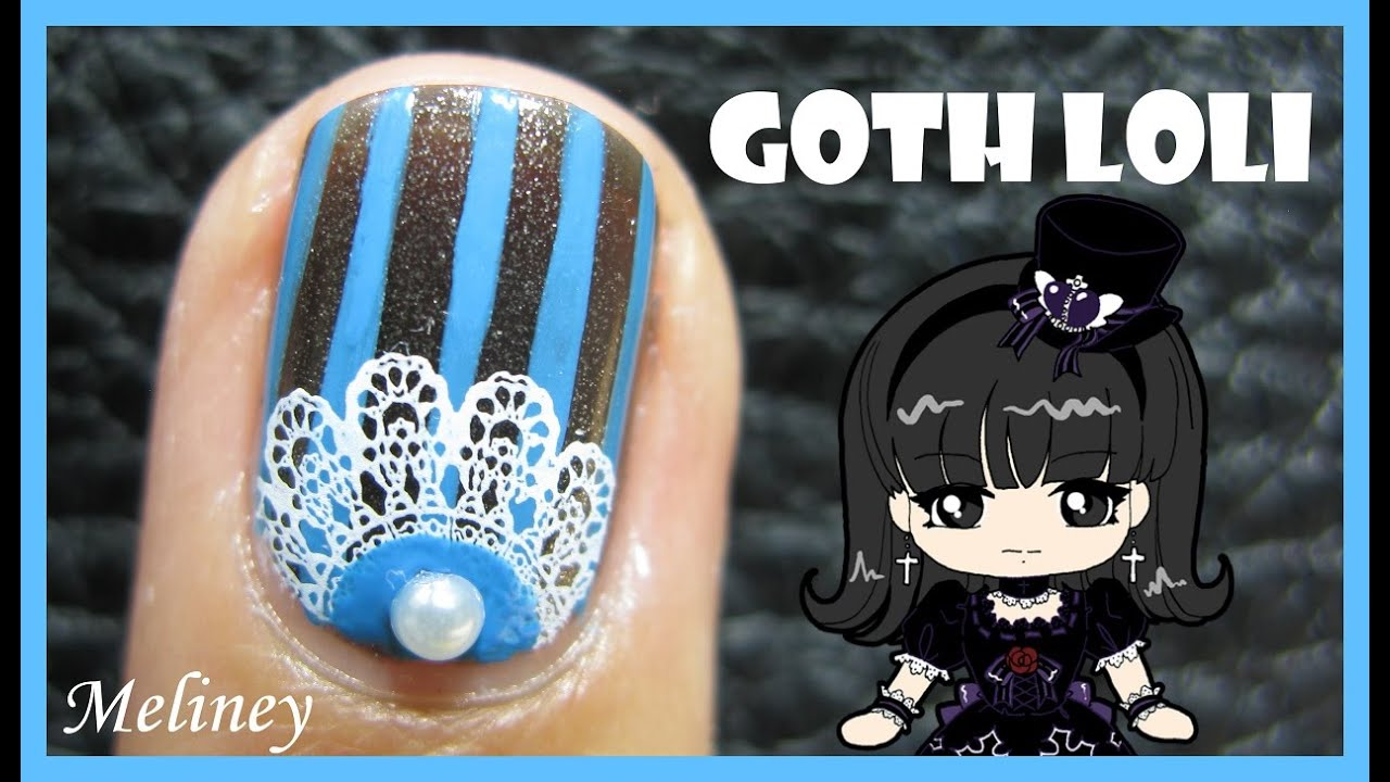 Gothic lolita nail art design stamping tutorial for short nails gothic lolita nail art design stamping tutorial for short nails beginners easy simple youtube prinsesfo Gallery