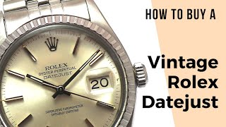 How to Buy a Vintage Rolex Datejust / Stretch Repair