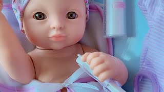 Baby doll toy with diaper having milk and bedtime palying 🎀 you and me