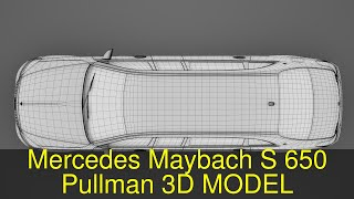 3D Model of Mercedes Maybach S 650 Pullman Guard VV222 2019 Review