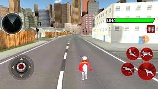 Flying Superhero Dog Hero City Rescue Dog Games Android Gameplay