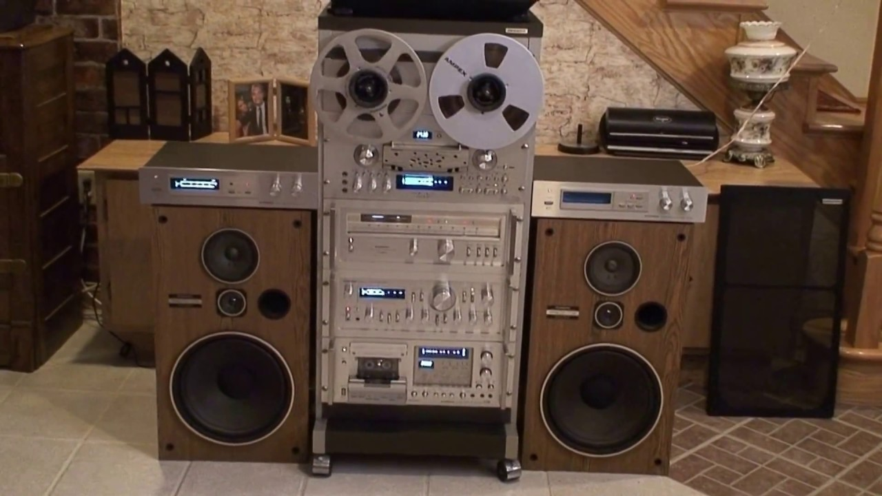 pioneer vintage stereo system rack youtube. Black Bedroom Furniture Sets. Home Design Ideas