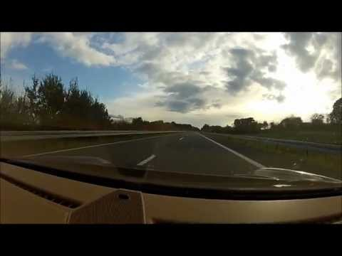 Racing PORSCHE Carrera at 310 km/h (191mph) on AUTOBAHN in Germany