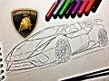 Como Dibujar un Lamborghini HURACAN