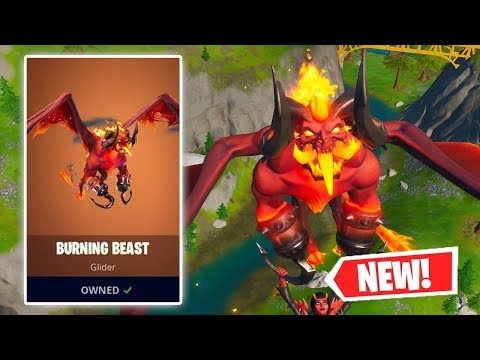 NEW BURNING BEAST Glider Gameplay In Fortnite!