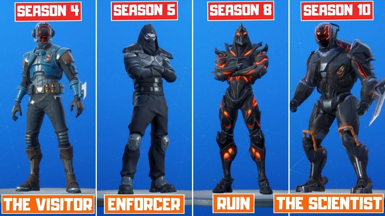 The Evolution Of All Mystery Fortnite Skins Season 4