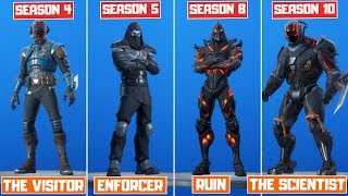 The Evolution of All Mystery Fortnite Skins! (Season 4 - Season 10)