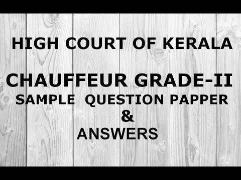 CHAUFFEUR GRADE II SAMPLE QUESTION ANSWER YouTube