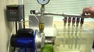 Частотный преобразователь с датчиком давления(Данное видео демонстрирует принцип работы частотного преобразователя с датчиком для поддержания постоянн..., 2015-06-09T10:49:08.000Z)