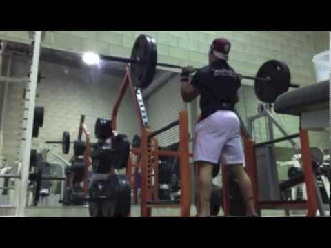 Zac Dean Teenage Bodybuilder Push Press 100kgx4